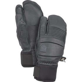 Hestra Leather Fall Line 3 Finger Gloves, grey
